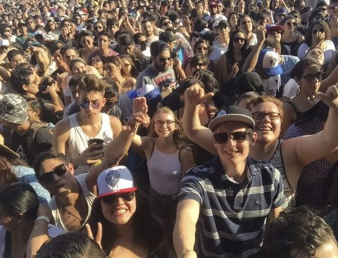 Livlig: Philip Støyten har fanget et av mange flotte øyeblikk fra festivalen Pa'l Norte i Monterrey, Mexico.