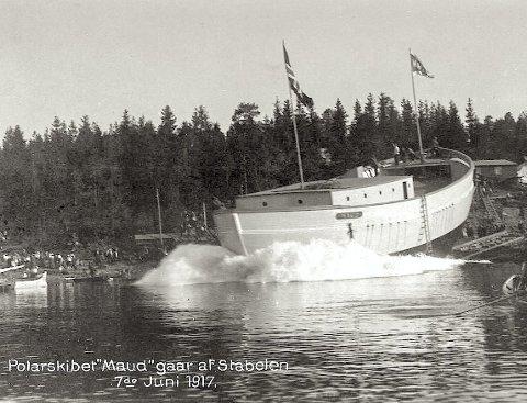 SJØSATT: «Maud» ble sjøsatt i Vollen i 1917. Nå kommer den endelig hjem igjen. Hvilken bragd!