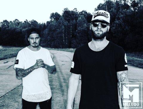 KAMPANJE: Dag Røed og Robert Eliassen i pop/rap-duoen Meludo har i samarbeid med Chris Baco skapt en ny hit med sin sang «Mitt fjes» som omhandler mobbing.