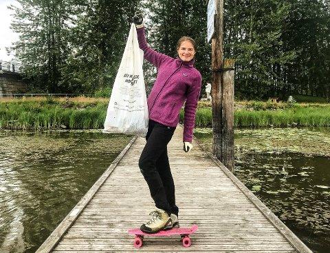 RYDDEGENERAL: Til daglig jobber Fanny Pindsle som ryddegeneral i foreningen Hold Norge Rent. Nå skal hun til Bali for å presentere et prosjekt for å samle ideer og løsninger i kampen mot marin forsøpling.