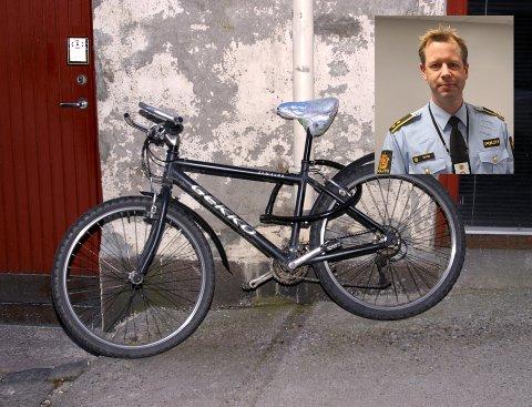 TYVERIER: Krimsjef Paal Knutsen sier politiet i Sandefjord får inn mange meldinger om sykkeltyverier.