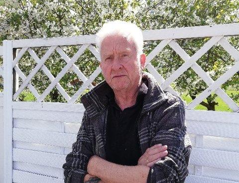 TØFFE TAK:  Rolf-Arne Olsen har fått ein dose med vaksine, men har likevel fått påvist koronasmitte.