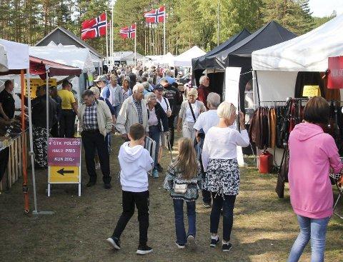 Inntektskilde: Den store Dølemo-marknaden gir inntekter til idrettslaget, grendelaget, skytterlaget og Dølemo Vekst.