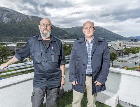 Bekymret: Erling Outzen (t.v.) og Ståle Refstie.Foto: Tommy Rustad
