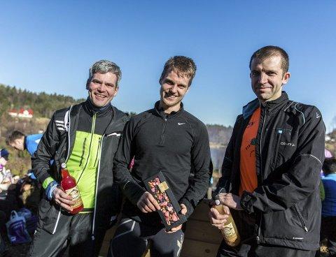 Herreklassen: 1. Svein Roar Kvamme, 2. Sverre Johansen, 3. Arild Myhr. FOTO: Morten Sæle