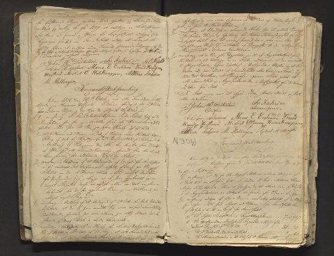 Møtebok for formannskap, heradsstyre og soknestyre i Hamre, Åsane, Alversund og Meland, 1838–1857.