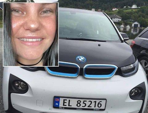 Helene Godø krysser fingrene for at bilen dukker opp igjen.