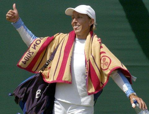 STJERNE I FLERE TIÅR: Marinta Navratilova er en av tennisens største stjerner. I flere tiår briljerte hun på tennisbanen. I tillegg var hun en av de tidligste idrettsstjernene til å stå frem i offentligheten som lesbisk. Hun ble derfor kronikkforfatterens store idol.