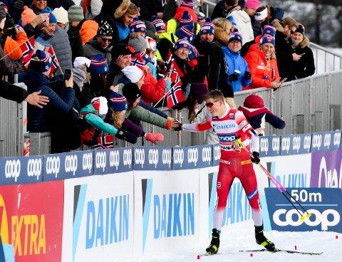 PÅ KONNERUD IGJEN?: Johannes Høsflot Klæbo vant skisprinten på Konnerud i mars. Ser vi Klæbo på Konnerud til vinteren også?