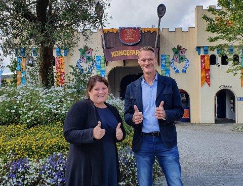 Therese Oddsen i Kongeparken og Kjartan Kopren i Noova har innledet et teknologisk samarbeid.