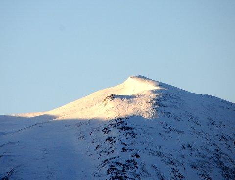 FINT: Et frostblått, vakkert lys.