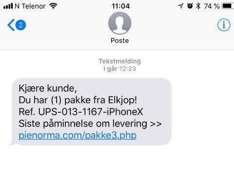 Denne svindel-sms-en skal flere tusen nordmenn ha mottatt.