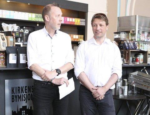 Hans Christian Nygaard Wang og Ole Richard Holm-Olsen driver advokatfirmaet sammen.