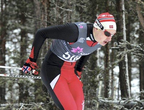 GIKK FORT: Jesper Abelsen Andreasen imponerte i juniorenes VM-uttakingsrenn på Sjusjøen på lørdag.
