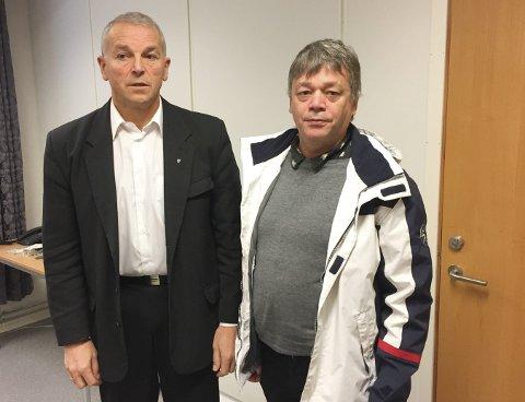 BARE GOD VENNER: Det blir ikke noe av ekteskapet mellom Austertana og Båtsfjord kommune. Både ordfører Geir Knutsen i Båtsfjord og bygdelagets talsperson, Fred Johnsen, synes det trist at saken aldri ble utredet.