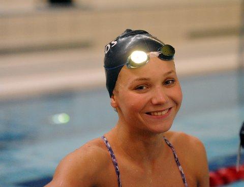 FØRSTE GULL: Marte Løvberg tok sitt første individuelle gull i et senior-NM.