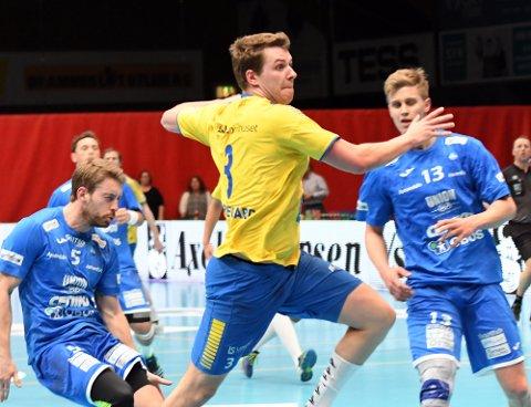 FRISK: Emil Nedregård banket inn syv mål på ni skudd.