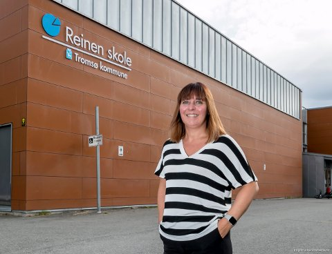 GIR SEG: Beate Evjen slutter som rektor på Reinen skole denne måneden. Nå er søkerlisten til å bli hennes erstatter klar.