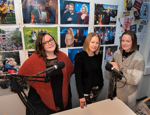 Frontsjefene Mina Watz (t.v.) og Kristin Stavik Moshagen (t.h.) diskuterer både kloakk og jul med debattredaktør Stina Håkensbakken Roland i denne utgaven av OA-podden.
