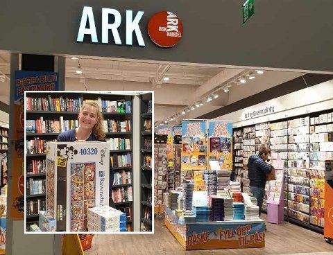 Ark bokhandler er en av butikkene som  har klart seg uten permitteringer. - Kundene er færre, men de handler mer, sier Anette Endsjø (innfelt).