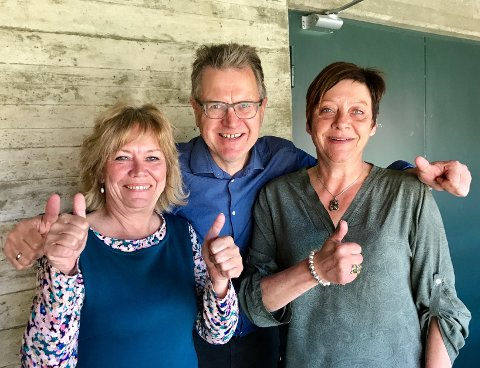 Ordførerne Kjersti Nythe Nilsen (f.v.), Erik Unaas og Ellen Solbrække skal konkurrere i skogen førstkommende søndag.