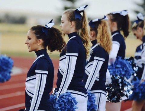 High school: Maria Pahlm fikk oppleve den typiske amerikanske «highschoolen». Her under en fotballkamp.