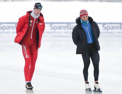 TAPTE DUELLEN: Magnus Bakken Haugli (til venstre) måtte seg slått av treningskameraten Kristian Ulekleiv i NM.