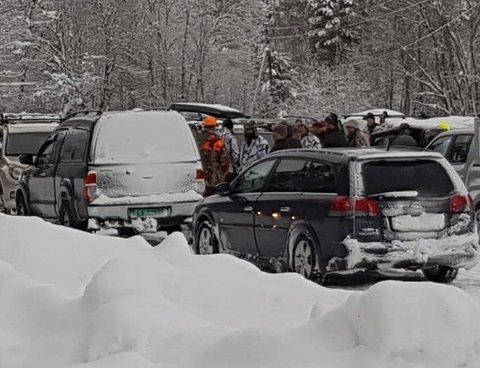Full mobilisering: Det spares ikke på kruttet når ulvejakta settes i gang i Østerdalen.Foto: Privat