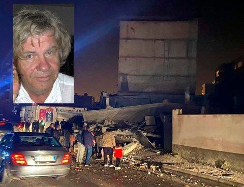 Kjell Høibraaten bor og jobber Albanias hovedstad, Tirana. Natt til tirsdag ble byen rammet av et kraftig jordskjelv med en styrke på 6,4.