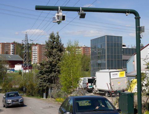 STRAKS KLAR: Denne bommen taes i drift fra 1. juni. Det fører til ekstra utgifter for naboer i Lørenskog.