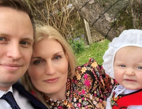 FORTVILET: Vibeke Tomter Eksten og mannen synes det er leit at datteren deres ikke får feire jul med sine besteforeldre.