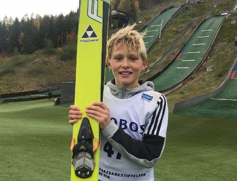 TOK MEDALJER: Brage Stensland-Larsen kunne reise hjem fra Solan Gundersens Vinterleker med to medaljer.