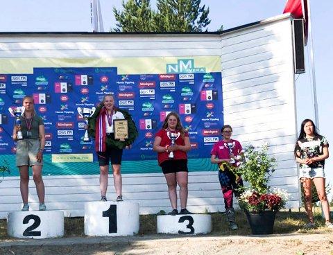 Til topps: Henriette Trostoel kunne nok en gang stå øverst på seierspallen i NM.