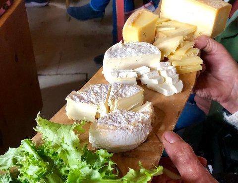 På Vikabråtstølen til Yvonne Tonnaer og Ole-Jacob Christensen fikk nettverket smake et utvalg ferske og vellagrede oster laget på stølsmjølk.