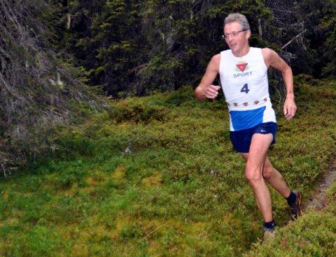 Løper: Roar Aamodt løp inn til tida 1.51.28 i Besseggløpet. Her er «fjellgeita» fra Bagn i gang med Bjødalskampen opp. Roar er sønn av Ole Hermann Åmodt, som var skøyteløper av internasjonal klasse på 1960-tallet.