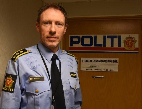Ny status:Mangeårig lensmann i Steigen, Morten Hønnås, får snart ny status og etter hvert også ny stilling.