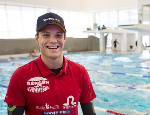 Markus Lie endte på 3. plass på 100 meter fri på første dag i Bergen Swim Festival.