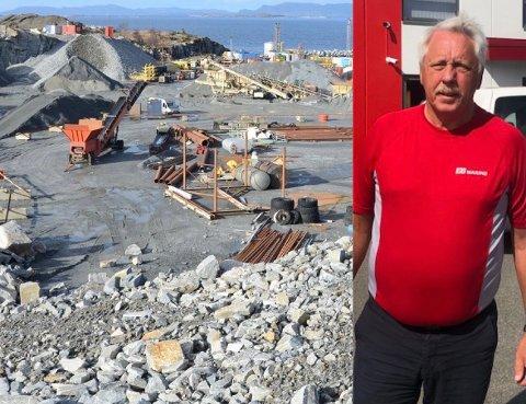 Næringsliv: Torbjørn Erga og hans firma Gallos Arena har sendt søknad om å fylle ut i sjøen ved Hanasand næringsområde.