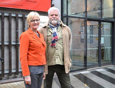 VELKOMMEN TIL FEIRING: Kultursjef i Drammen kommune Tone Ulltveit-Moe og Gunnar Grinaker i Østafjelske kompetansesenter for musikk inviterer alle til gratisfest på Union Scene med det velklingende navnet Kulturbløyta.