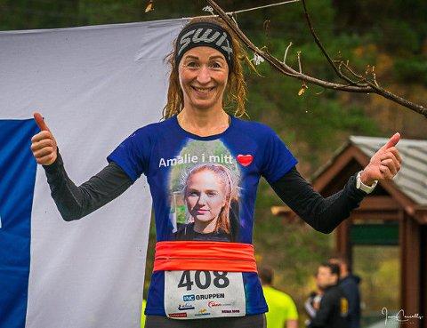NAUSTDAL: Marit Stuhaug frå Naustadal imponerte med løyperekord på 10 km i Eiefjord i helga.
