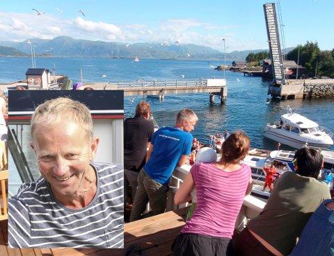 GLAD KJØPMANN: Magne Svardahl har tidenes sal som kjøpmann denne «korona-sommaren».