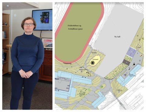 FORNYING: Annette Dale Natås er rektor ved Skei skule. Uteområdet skal få seg ei oppgradering til 4,6 millionar kroner.