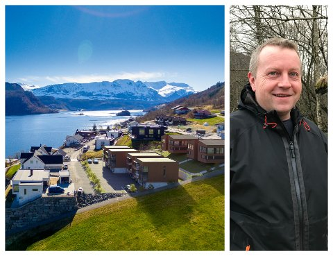 SNART: Det har tatt litt lengre tid enn først forventa, men no er det snart klart for neste byggesteg på Sælasteinen i Naustdal, fortel Jan Erik Aase i Norgeshus Naustdal.