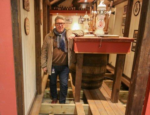Til tørk: Puben i bryggeridelen er fortsatt til tørk, men Ulf Morten Davidsen på Fredrikstad Bryggeri er glad for at de fikk i gang Gjærhuset til julebordsesongen.