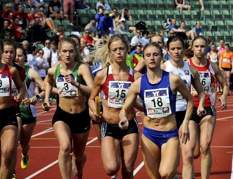 AMBISJONER: Ania Zielinkiewicz (18) og Lillehammer IF har ambisjoner om å gjøre det bedre enn fjorårets 10. plass i Holmenkollstafetten i morgen. Foto: Hans Bjørner Doseth