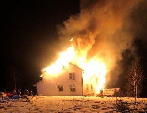 Dramatisk: En 17-åring er dømt etter denne dramatiske brannen.