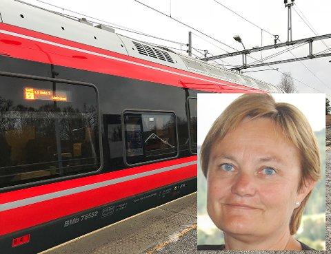 GJØVIKBANEN: Rigmor Aasrud (Ap) spør hva samferdselsministeren vil gjøre for å bedre kvaliteten for pendlerne på Gjøvikbanen.