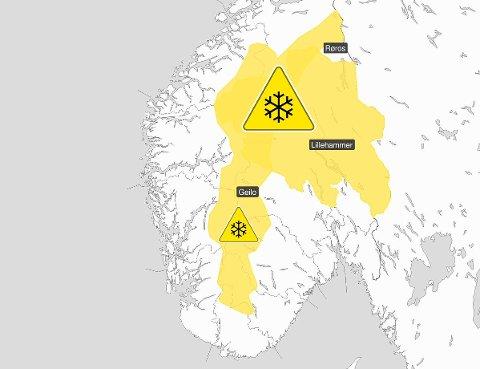 GLATT: Meteorologene har sendt ut farevarsel på grunn av snø, sludd og regn i nordlige deler av Østlandet samt for fjellovergangene i Sør-Norge.