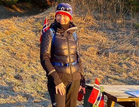 JUBILEUM: Edith Brænden (69) kunne lille julaften markere sin tur nummer 300 til Brandbukampen, på under ett år.