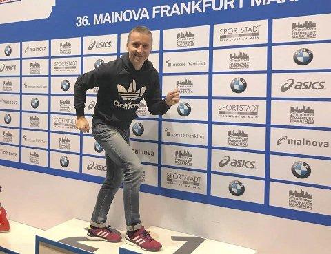 AVSLUTTET I FRANKFURT: Tom Roger Vege-Tangen avsluttet sesongen  i Frankfurt.